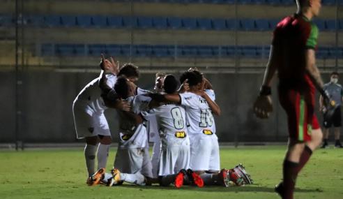 Atlético-MG marca no fim e vence clássico diante do América-MG pelo Brasileirão Sub-20