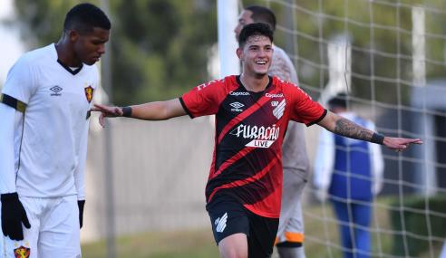 Com três gols em quatro minutos, Athletico-PR vence Sport pelo Brasileirão Sub-20
