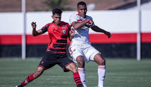 São Paulo bate Atlético-GO e mantém 100% no Brasileirão Sub-20