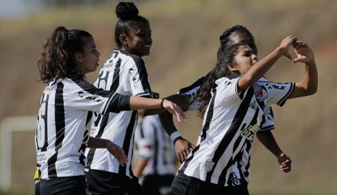 Atlético-MG decide no primeiro tempo e vence Audax-SP pelo Brasileirão Feminino Sub-18