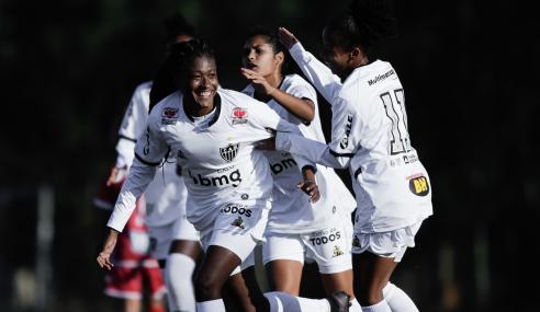 Atlético-MG vence Audax-SP e mantém disputa no Grupo D do Brasileirão Feminino Sub-18