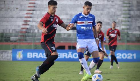 Athletico-PR marca no fim e empata com o Bahia pelo Brasileirão Sub-20