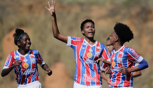 Com gol no último lance, Bahia vence Avaí/Kindermann pelo Brasileirão Feminino Sub-18