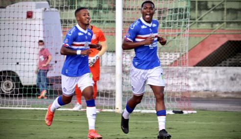 Bahia vence Corinthians e segue na cola do Fortaleza no Brasileirão de Aspirantes