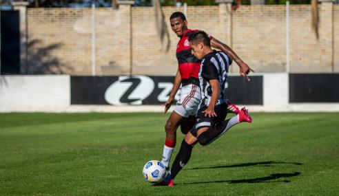 Ceará sai em vantagem, mas Flamengo busca empate pelo Brasileirão Sub-20