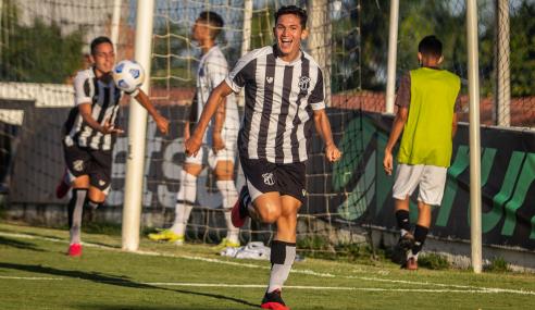 De virada, Ceará vence Santos e entra no G-8 do Brasileirão Sub-20