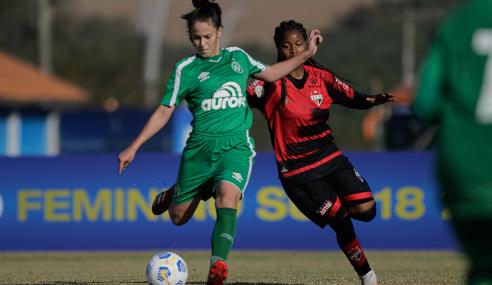 Com dois gols de falta de Viviane, Chapecoense vence Atlético-GO pelo Brasileirão Feminino Sub-18