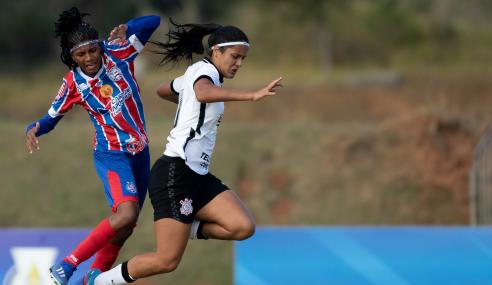 Com uma a menos, Corinthians busca empate com o Bahia pelo Brasileirão Feminino Sub-18