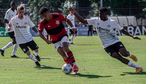 Grêmio vence na Gávea e impõe primeira derrota ao Flamengo no Brasileirão Sub-20