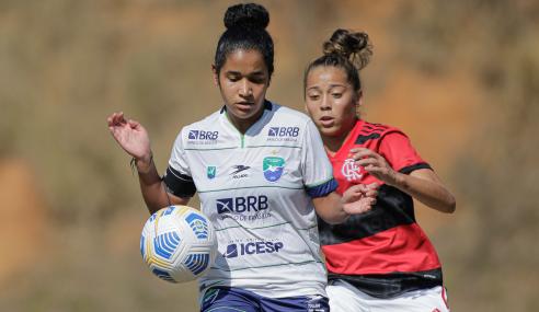Flamengo empata com Minas Brasília e mantém ponta do grupo no Brasileirão Feminino Sub-18