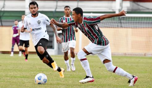 Com final agitado, Fluminense e Atlético-MG empatam pelo Brasileirão Sub-20