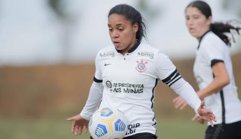 Corinthians marca nos acréscimos e empata com o Fortaleza pelo Brasileirão Feminino Sub-18
