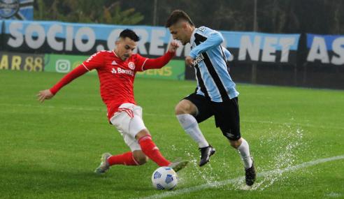 Grêmio leva virada, mas busca empate com o Internacional pelo Brasileirão Sub-20