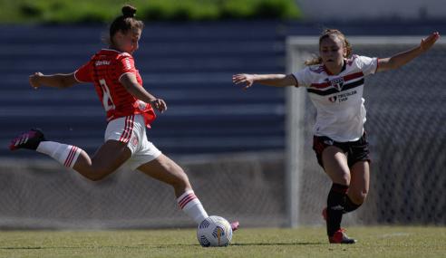 Inter leva empate do São Paulo, mas vence nos pênaltis e vai à final do Brasileirão Feminino Sub-16