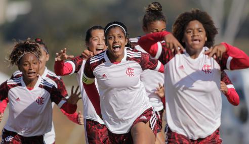 Com gol no fim, Flamengo vence Minas Brasília pelo Brasileirão Feminino Sub-18