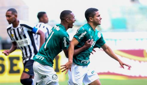 Com dois de Gabriel Silva, Palmeiras vence Santos pelo Brasileirão Sub-20
