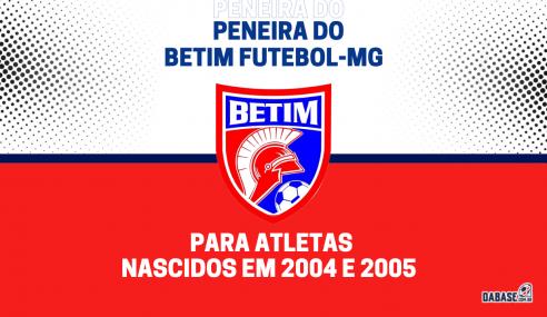 Betim Futebol-MG realizará peneira para a equipe sub-17