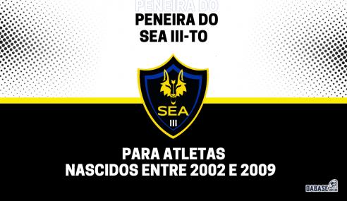 SEA III-TO realizará peneira para quatro categorias