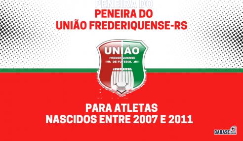 União Frederiquense-RS realizará peneira para duas categorias