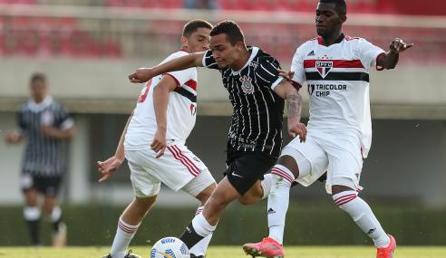São Paulo empata com o Corinthians e perde 100% no Brasileirão Sub-20