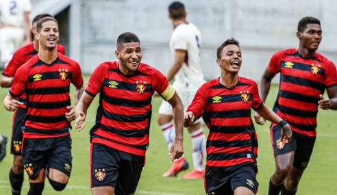 De virada, Sport vence Fortaleza e sobe no Brasileirão Sub-20