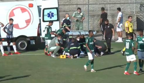 Zagueiro do sub-20 do Palmeiras sofre grave lesão