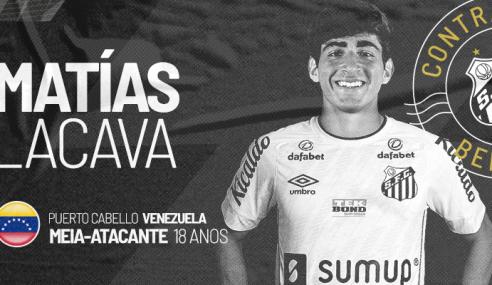 Santos anuncia contratação de promessa venezuelana