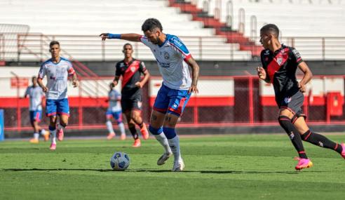 Bahia vira nos acréscimos e derrota Atlético-GO pelo Brasileirão Sub-20