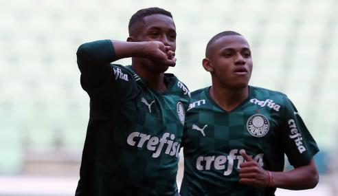 Palmeiras vence Fortaleza e assume vice-liderança do Brasileirão Sub-20