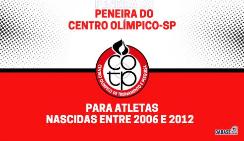 Centro Olímpico-SP realizará peneira de agosto na próxima semana