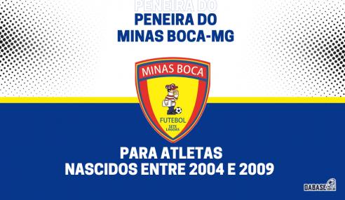 Minas Boca-MG realizará peneira para cinco categorias