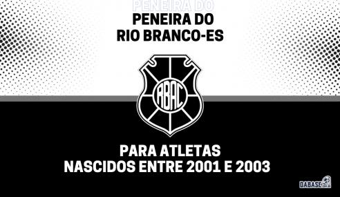 Rio Branco-ES realizará nova peneira para a equipe sub-20