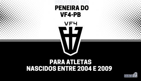 VF4-PB realizará peneira para três categorias