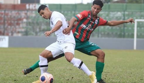 Santos perde pênalti e só empata com a Portuguesa Santista pelo Paulistão Sub-20