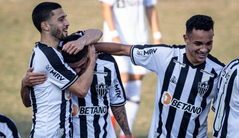 Atlético-MG resolve no segundo tempo e vence Santos pelo Brasileirão Sub-20