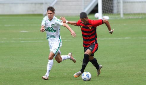 Sport e Chapecoense empatam sem gols e seguem juntos no Brasileirão Sub-20