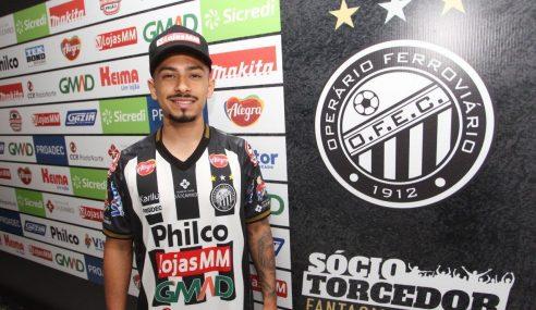 Alanzinho é emprestado pelo Palmeiras ao Operário-PR