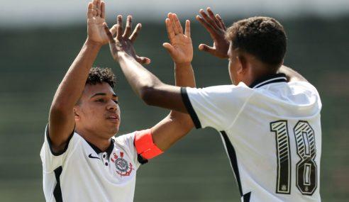 Corinthians vence de virada e se mantém 100% no Paulista Sub-15
