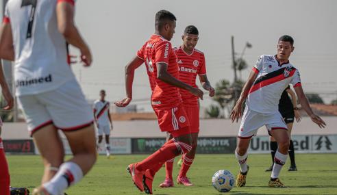 Com dois de Cadorini, Internacional bate Atlético-GO pelo Brasileirão Sub-20