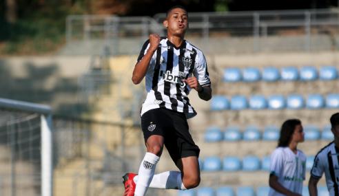 Atlético-MG atropela Porto Vitória e vai às semifinais da Copa do Brasil Sub-17