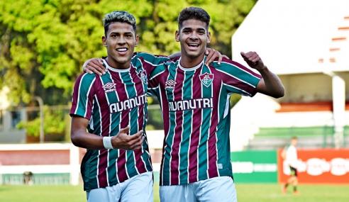 Fluminense vence duelo direto contra América-MG e entra no G-8 do Brasileirão Sub-20