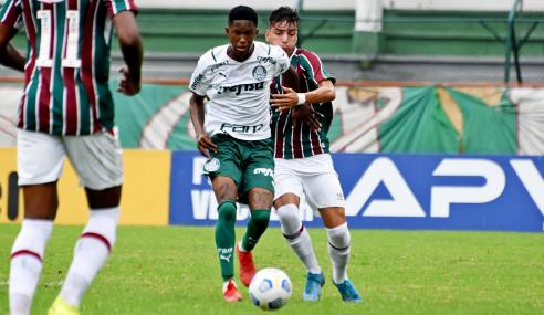 Fluminense e Palmeiras empatam e perdem chance de subir no Brasileirão Sub-20