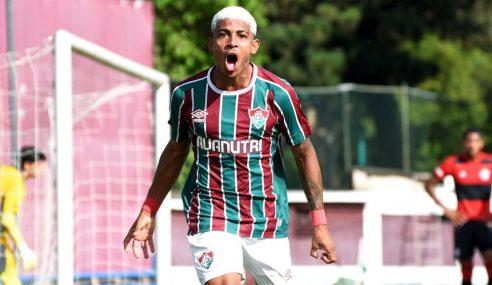 Fluminense goleia Flamengo no jogo de ida da final do Carioca Sub-20