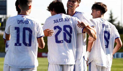 Real Madrid e Inter vencem e dividem a ponta do Grupo D na Uefa Youth League