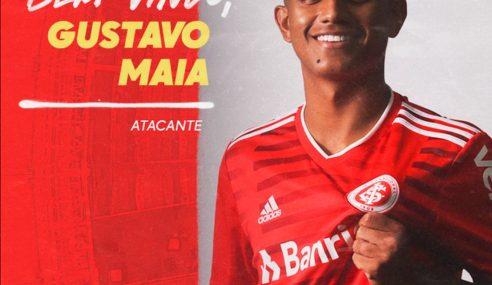 Internacional confirma a contratação do atacante Gustavo Maia