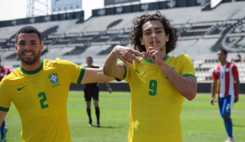 Brasil volta a vencer o Paraguai em amistoso entre seleções sub-17
