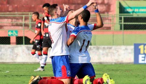 Bahia vira e vence jogo de ida da final do Baiano Sub-20