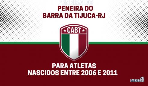 Barra da Tijuca-RJ realizará peneira agendada para três categorias
