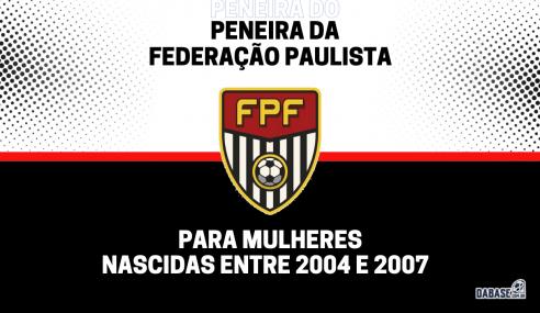 Federação Paulista realizará peneira para a base feminina