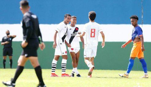 Vasco goleia Nova Iguaçu e está na semifinal do Carioca Sub-20